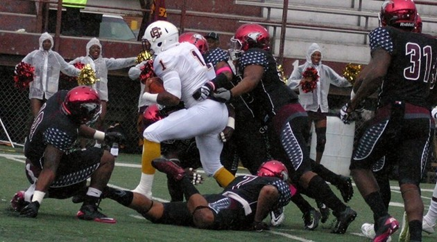 NCCU tackle vs BCU 2015