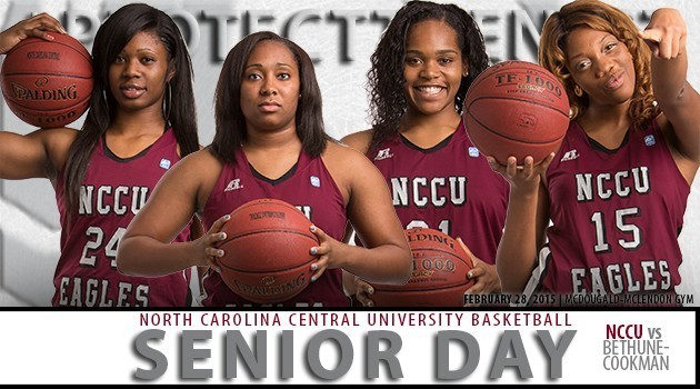 2015 NCCU WBB Senior Day