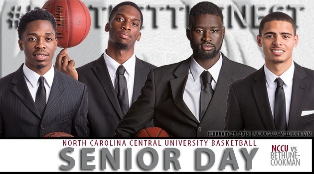 2015 NCCU MBB Senior Day