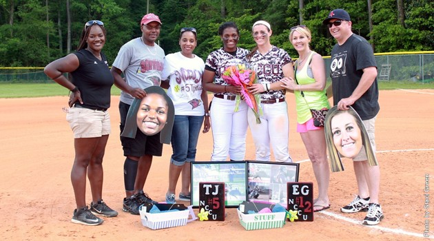 Senior Day for Tiphani Jackson Jackson and Emerie Germ